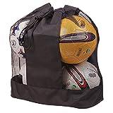 Bolsa de Malla Impermeable para Equipamiento de Baloncesto y Voleibol, Bolsa de Transporte de balones de fútbol, con cordón para 10 a 15 Pelotas, C Bag for 5 Balls (47x53cm)