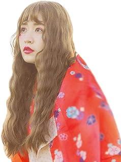風追い少女 ウィッグ ロング カール パーマ レディース フルウィッグ ウェーブ 巻き髪 ふわふわ 自然 耐熱 通気 小顔 原宿 人気 ファッション 元気 グラマラス ネット付き wig