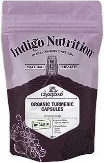 Indigo Herbs Cápsulas de Cúrcuma Orgánica 500mg 100 cápsulas veganas
