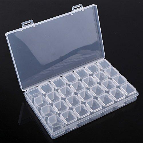 28 slots Doorzichtige plastic verstelbare tablet Medicijnpil Sieraden Opbergdoos Organizer Box Container