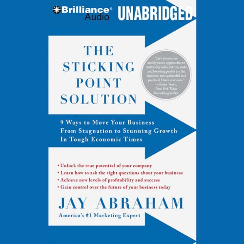 The Sticking Point Solution     9 Ways to Move Your Business from Stagnation to Stunning Growth              By:                                                                                                                                 Jay Abraham                               Narrated by:                                                                                                                                 Jay Abraham                      Length: 8 hrs and 46 mins     153 ratings     Overall 4.5