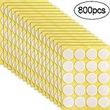 800 Piezas Pegatinas de Mecha de Vela Punto Adhesivo de Doble Cara Pegatinas Adhesivas Resistentes al Calor de Hacer Velas para Suministros de Bricolaje de Velas