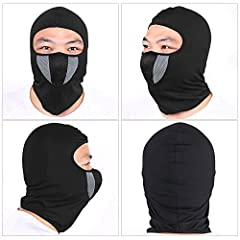 TAGVO Balaclava Face Mask, Breathable Mesh Multipurpose Windproof Motorcycle Cycling Tactical Balaclava Hood Neck Warmer, Fit Helmets for Adults Women and Men Elastic Universal Size #5