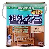 和信ペイント 水性ウレタンニス 屋内木部用 高品質・高耐久・食品衛生法適合 透明クリヤー 0.7L