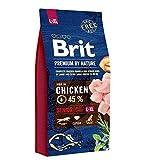 BRIT Premium Croquette Aîné pour Chien Sénior 15 kg Taille L