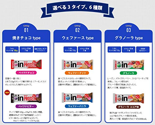 【Amazon.co.jp限定】inバープロテインバニラ(14本入×1箱)ココアウエファーにバニラクリームのウェファータイプ高タンパク10g