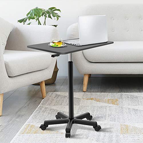 mesas de Centro Mesa de Esquina de Escritorio pequeña elevable portátil para computadora portátil, Mesa Auxiliar de sofá con Rueda, para Sala de Estar, Dormitorio, Mesa Auxiliar de Estudio, 60 x 39