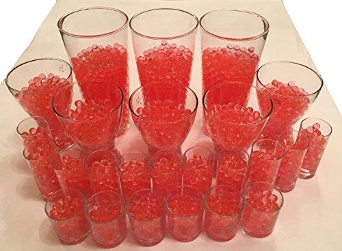 4000 Stück Wasser Kugeln Gel Bälle CHRISTAL ERDE CHRYSTAL Perlen Vasen Dekoration 11-15mm Durchmesser – Pflanzen Kerzen Blumen Wasserspender KRISTALL HINGUCKER (Rot)