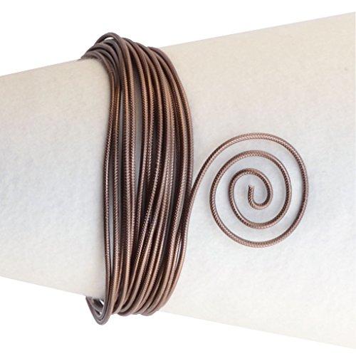 Vaessen Creative Alambre de Aluminio para Joyería, 2 mm de Espesor, Marrón (Chocolate), 5 m