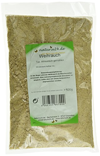 Naturix24 Weihrauch afrikanisch gemahlen , 1er Pack (1 x 500 g)