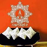 Tatuajes De Pared Mandala Flor Pegatinas De Pared Citas Namaste Hand Pattern Decoración Del Hogar Interior Wall Stencil Art Mural 58 * 57Cm