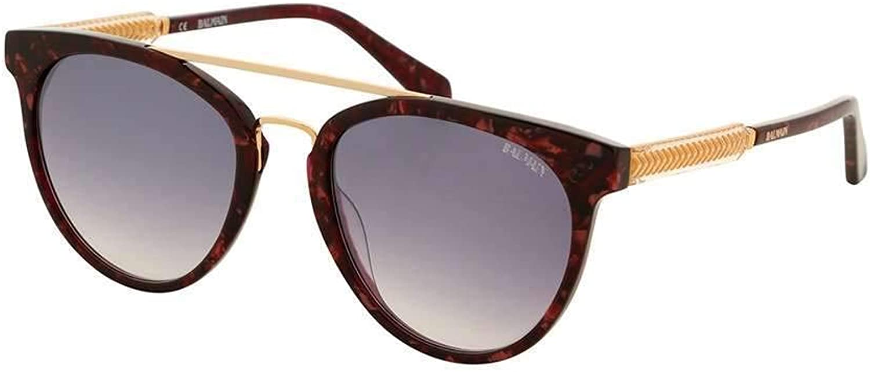 Balmain sunglasses (BL2518 04) Marble Plum  gold  bluee Grey Gradient lenses