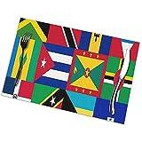 GuyIvan Karibik und Westindien Nationalflagge Tischsets Tischset rutschfeste Matten 6er-Set