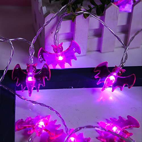 Halloween Bat - Style Led Lantern String Ghost Battery Section Flash Room Decoration Color Lantern String 3m