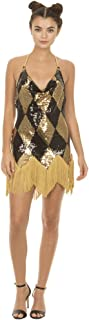 Suicide Squad Harley Quinn Sequin Chemise Costume Dress with Fringe