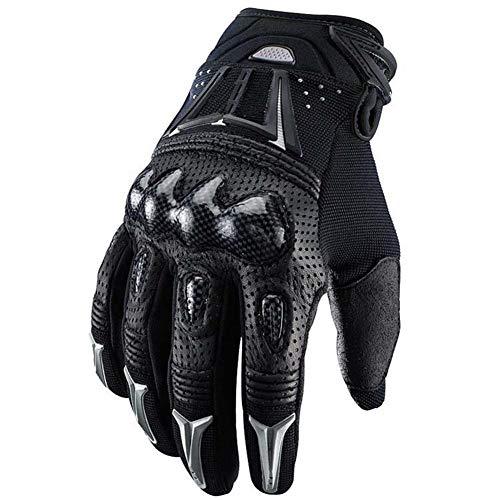 Wovemster Taktische Handschuhe Motorrad Herren Vollfinger Mit Gepolstertem Rückenseite Geeignet Für Outdoor Sports Ritter Motorrad Motocross,XL(Black)