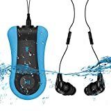 AGPtek reproductor MP3 sumergible, S12, version Nouvelle MP3 impermeable 8 GB IPX8 para natación (piscina) y sports-bleu