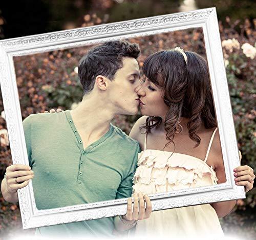 Bilderrahmen Hochzeit Hochzeitsrahmen für lustige Hochzeitsfotos, lustige Hochzeitsspiele und als Photo Booth Zubehör. Bilderrahmen zur Hochzeit leicht und edel in Weiss