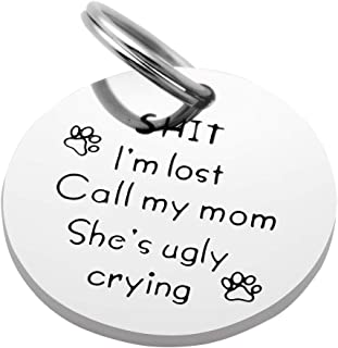 Kingmaruo Funny Pet Tag Stainless Steel Pet Tags Dog Tag for Collar Puppy Tag