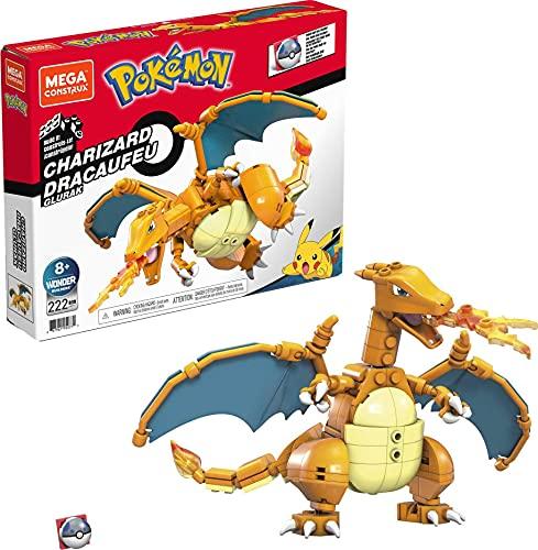 Mega Construx GWY77 - Pokémon Glurak-Figur, Bauset mit 223 Teilen, beweglich, ca. 10 cm, für Kinder ab 6 Jahren