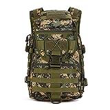 YFNT Mochila Militar al Hombro, 40L, táctico, Asalto, Impermeable, Bolsa para Caza y Acampar, Jungle Digital