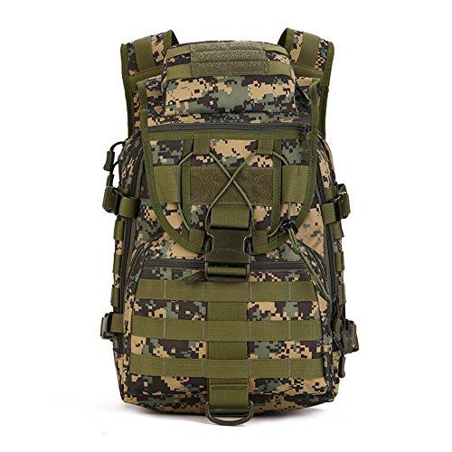YFNT Spalla Zaino 40l Militare tattico Zaino Zaino da Assalto Zaino Gear Borsa Impermeabile per Caccia Campeggio, Jungle Digital