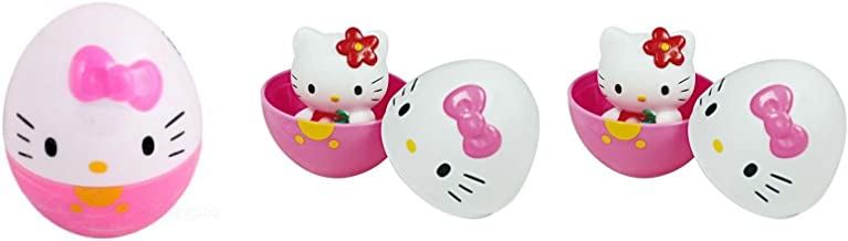 Toho Hello Kitty Suprise Eggs with Figure Bundle of 3 (Choices May Vary)