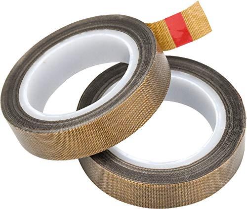 WEKON 2 PCS Teflonband PTFE Klebeband für Vakuummaschine, zum Abdichten von Hand- und Impuls-Versiegelungen, Hochtemperatur-Trocknen von Förderband, 10m x 13mm x 0.13mm