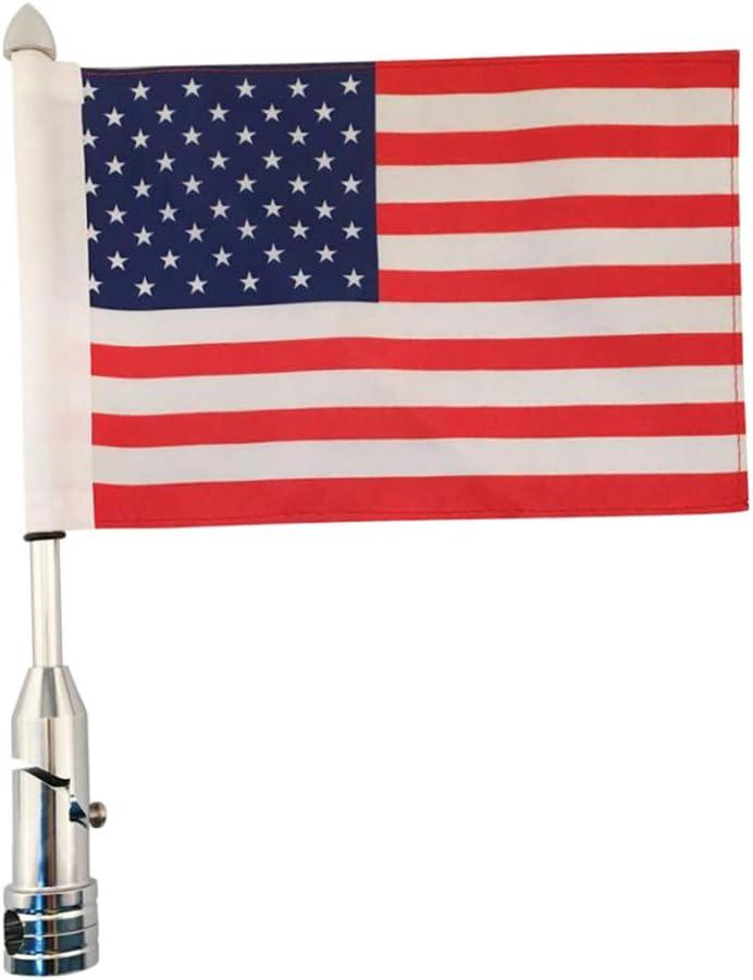 Homyl American US Los Angeles Mall Flag + Pole Mount Ranking TOP3 Rack Rear Side Luggage