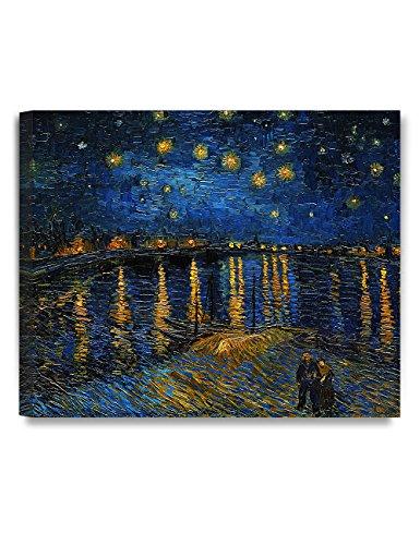 Decoraciones: Noche estrellada sobre el Ródano por Vincent Van Gogh. Reproducción de pintura al...