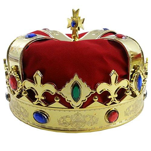 كم اسعار Funny Party Hats Royal Jeweled Kings Crown - Costume Accessory