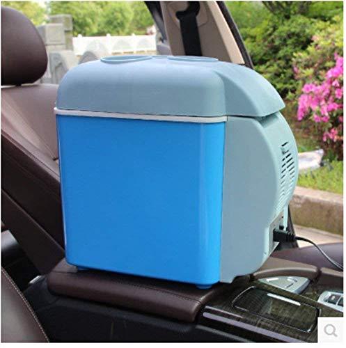 Refrigerador del coche, mini coche refrigerador pequeño congelador refrigerador refrigerador refrigerador de coches 7,5 litros l6l coche doble uso portátil nevera-azul 34x21.5x32cm (13x8x13 pulgadas)