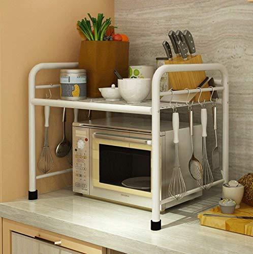 Badkamerhouder, keuken, help, vloer, oven, rek, roestvrij staal, multilayer, opbergkast 60 * 35 * 50cm
