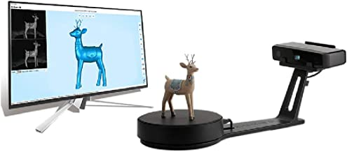 Shining3D [EinScan-SE] White Light Desktop 3D Scanner,0.1 mm Accuracy, 8s Scan Speed, 700mm Cubic Max Scan Volume, Fixed/A...