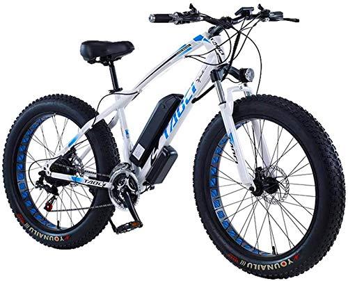 Bici electrica, 26 pulgadas Fat Tire Bicicleta eléctrica de 48V 1000W Motor Nieve bicicleta eléctrica con 21 Pedal de velocidad de bicicletas de montaña eléctrica Assist batería de litio de disco hidr