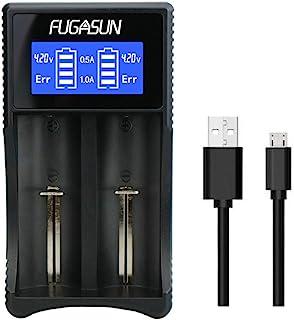 18650 Batteriladdare, LCD Universal Intelligent 18650 USB Batteriladdare för Li-ion/Ni-MH/Ni-Cd 18650 18490 18350 17670 17...