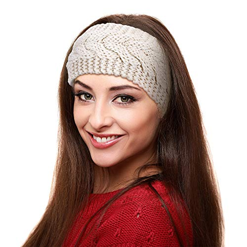 6 Pieces Winter Headbands Women's Cable Knitted Headbands, Winter Chunky Ear Warmers Suitable for Daily Wear and Sport, Multicolored A, 21 x 11 cm