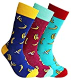 Sock Society Banana Unisex Men Women Fun Dress Casual Pattern Crew Funny Socks