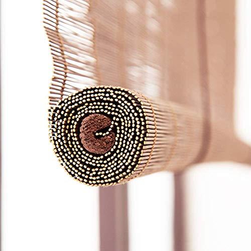 JXJ Mejore Las persianas enrollables de bambú de Estilo japonés, Cortinas enrollables para Gazebo Exterior, protección UV, filtrado de luz Natural, sombrilla Ancha de 60-120 cm G5105 (tamaño: an
