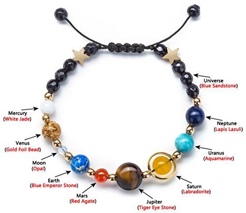 Product Image 5: Fesciory Women Men Solar System Bracelet Universe Galaxy The Eight Planets Guardian Star Natural Stone Beads Bracelet Bangle(Blue Sandstone(Adjustable))