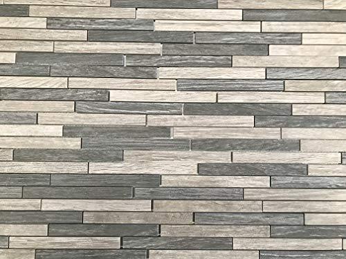 mosaico de red ceramica, madera baldosa azulejo gres porcelanico efecto madera color mix antracita y gris