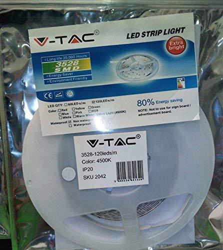 Striscia 600 LED Smd 3528 5 Mt Bobina Luce Bianca Naturale Alta Luminosità, 4500k