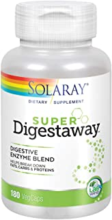 Solaray Super Digestaway Digestive Enzyme Blend | Healthy Digestion & Absorption of Proteins, Fats & Carbohydrates | Lab V...