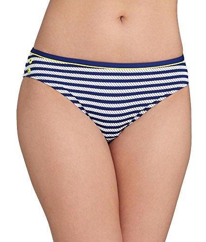 Cleo by Panache Women's Lucille Classic Bikini Bottom, Navy/White, XS
