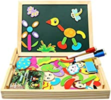 Magnetic wooden educational puzzle for kids
