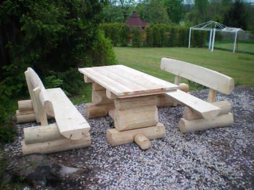 8 Personen Holzbalken Garten Sitzgruppe auf schoene-moebel-kaufen.de ansehen