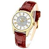 [ジョン・ハリソン]John Harrison 4石天然ダイヤモンド付ソーラー電波レディース腕時計 J.H-085LGW