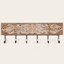 YWH-WH Wall Decoration Solid Wood Wall Decoration Iron Hook Wall Hanger Coat Creative Hooks European Metal Coat Hook Croch...
