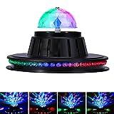 JUDYelc Disco Lights-Crystal Ball Stage Light con RGBW LED Party Show de luces para shows de boda Dance Floor Night Club DJ Flashing (UFO-stagelight)