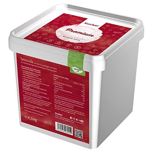 Xucker Premium aus Xylit Birkenzucker 4,5kg Vorteilspack - Kalorienreduzierter Zuckerersatz I Vegane & zahnfreundliche Zucker-Alternative von Xucker zum Kochen & Backen zuckerfrei